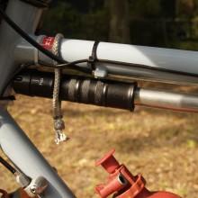 Zefal frame pump w/soft shackle carabiner